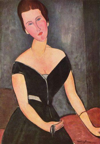 Amedeo Clemente Modigliani, portret van Madame Georges van Muyden, 1917