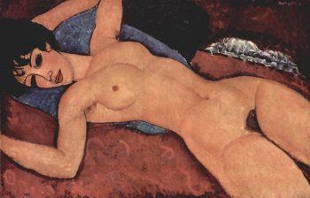 Amedeo Clemente Modigliani, Reclining Nude, 1917-1918