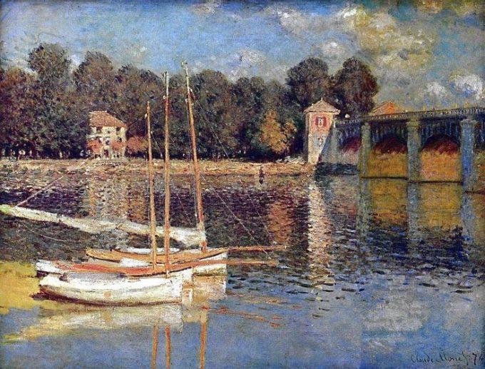 Claude Monet, de brug bij Argenteuil, 1874