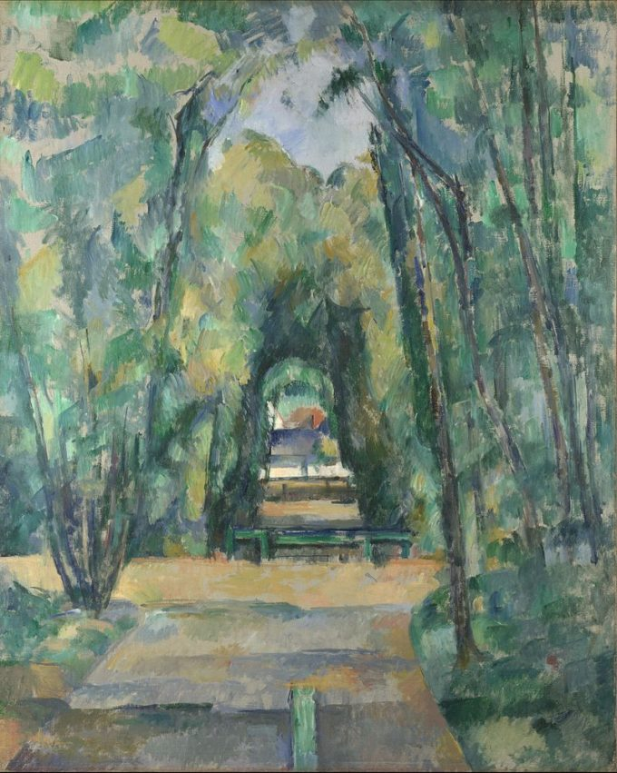 Paul Cézanne, L'Allee a Chantilly, 1888