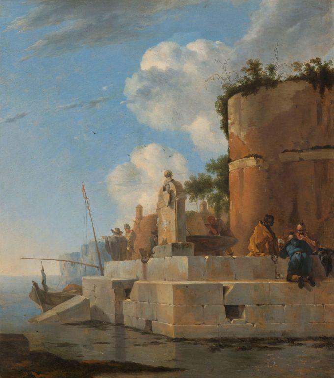 Jan Asselijn, Ruïne aan het water in Italië, 1640 - 1652
