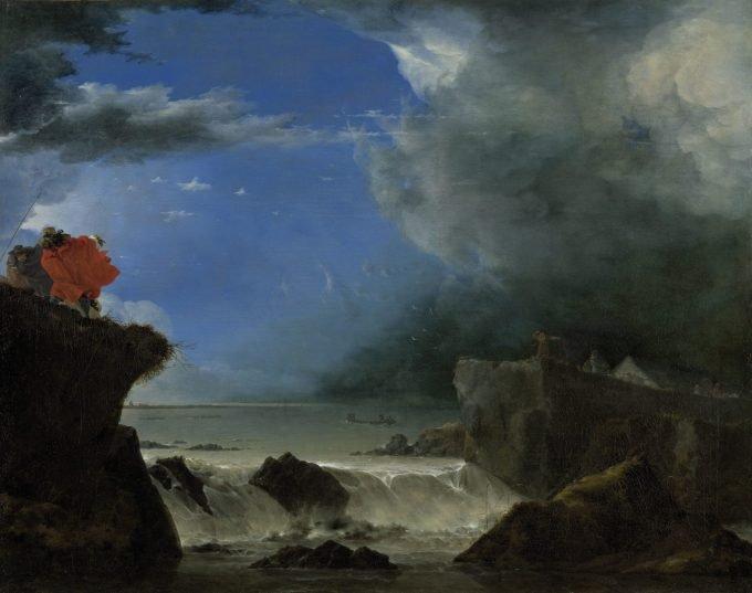 Jan Asselijn, De doorbraak van de Sint-Anthonisdijk bij Amsterdam, 1651