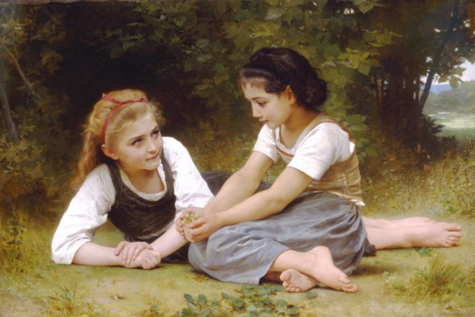 William-Adolphe Bouguereau, De notenverzamelaars, 1882