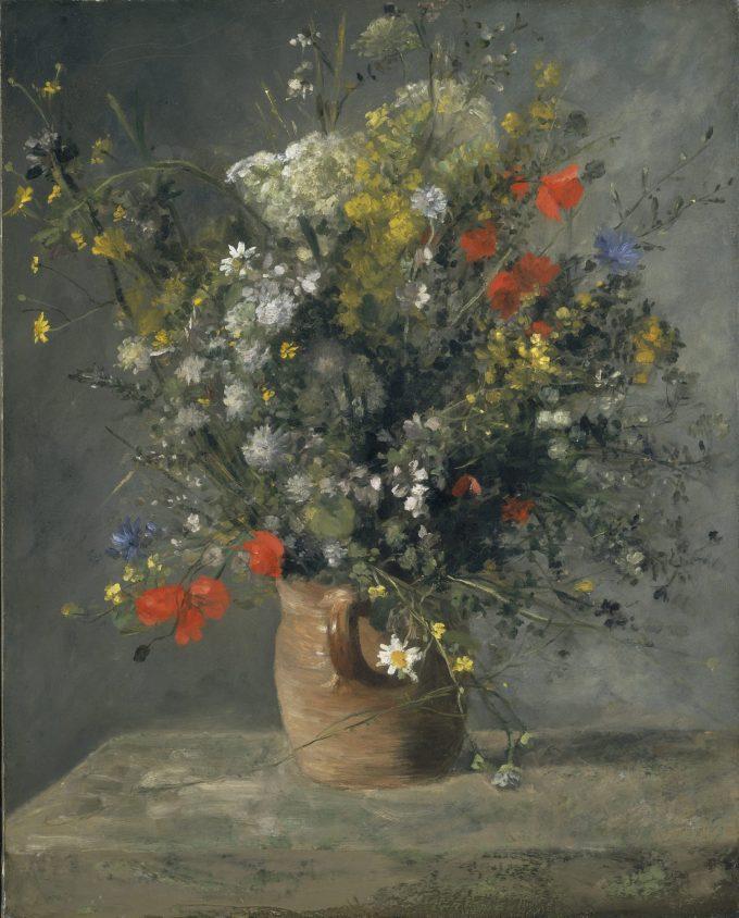 Pierre-Auguste Renoir, Flowers in a Vase, 1866