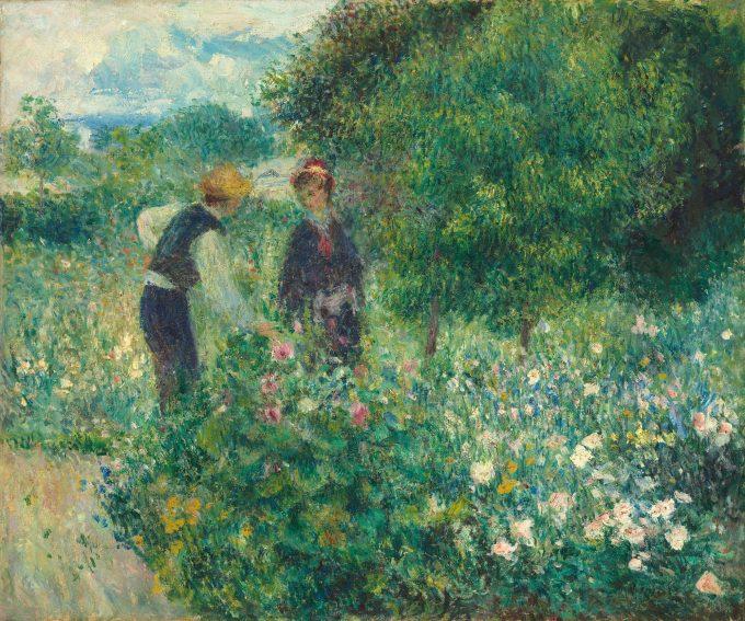 Pierre-Auguste Renoir, Picking Flowers, 1875