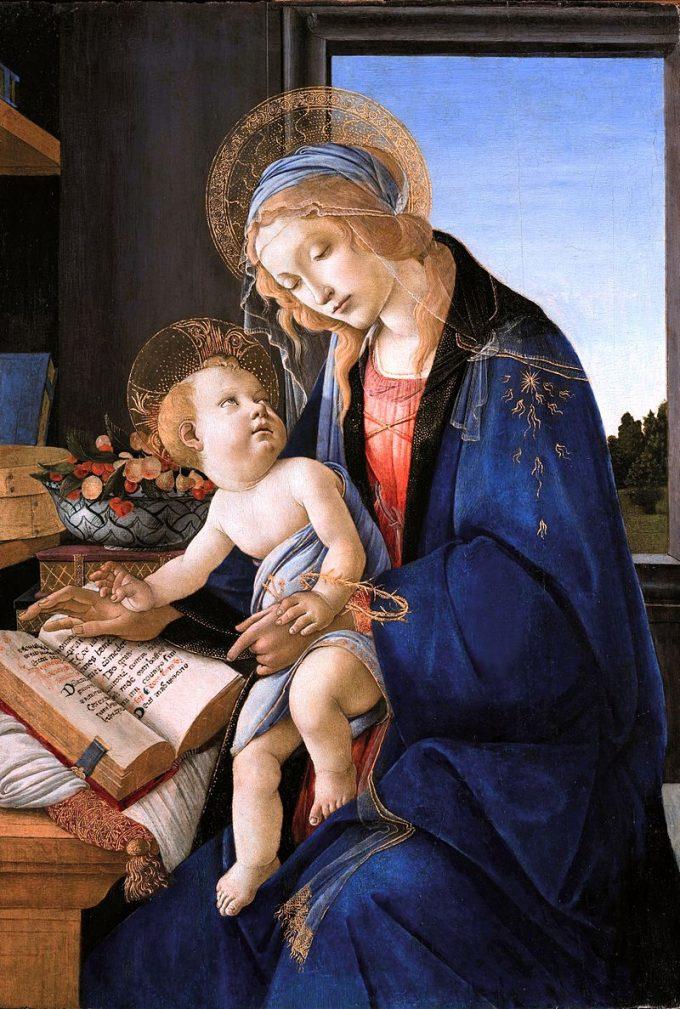 Sandro Botticelli, Madonna of the Book, 1480