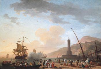 Claude-Joseph Vernet, Haven bij zonsondergang, 1749