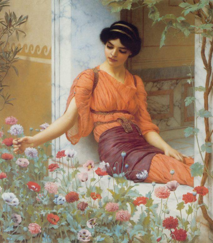 Op zoek naar John William Godward, Zomerbloemen, 1903? Kijk vooral eens in onze webshop
