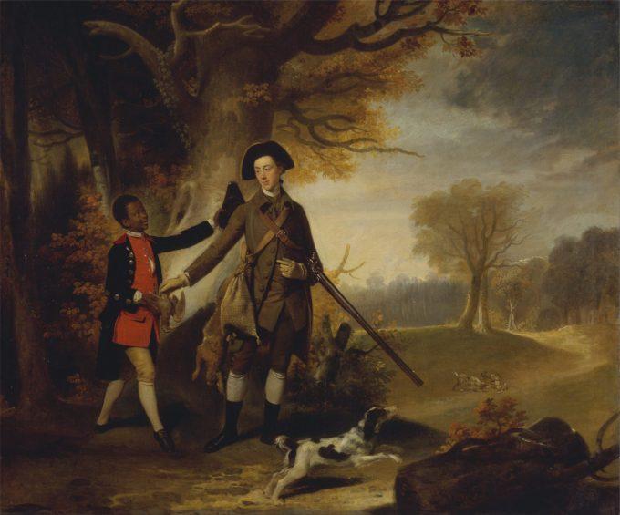 Onbekende schilder, Onbekende man, waarschijnlijk Charles Goring of Wiston (1744-1829) aan het jagen, 1765