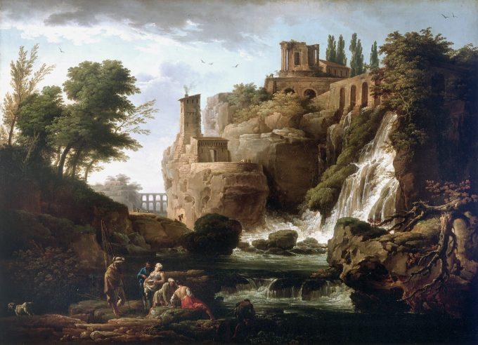 Claude-Joseph Vernet, Landschap van Tivoli, 1748
