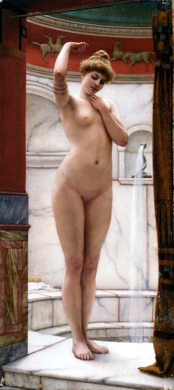 John William Godward, A Pompeian Bath, 1890