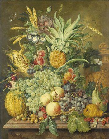 Jacobus Linthorst, Stilleven met fruit, 1808