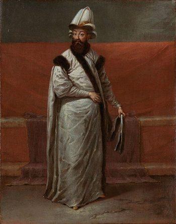 Jean Baptiste Vanmour, De grootvizier Nevşehirli Damat Ĭbrahim Pasa, ca. 1727 – ca. 1730