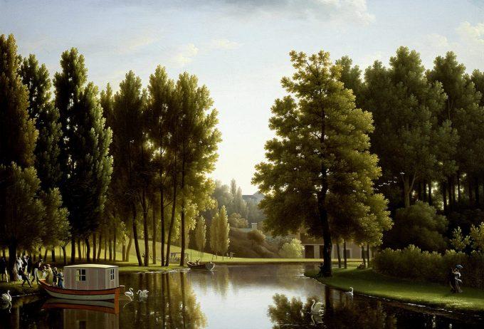 Jean J. Bidauld, The Park at Mortefontaine, 1806