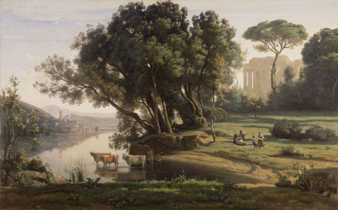 Jean-Baptiste-Camille Corot, Italiaans landschap, 1839