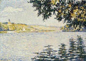 Paul Signac, Uitzicht op de Seine vanaf Herblay, 1889
