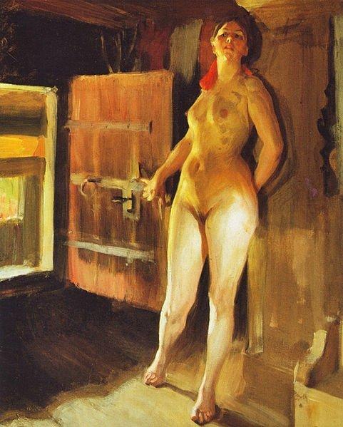 Anders Zorn, Meisje in de loft, 1905
