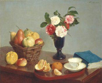 Henri Fantin Latour, Stilleven met bloemen, 1866