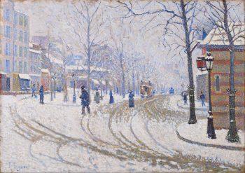 Paul Signac, Sneeuw aan de Boulevard de Clichy in Parijs, 1886
