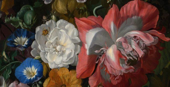Rachel Ruijsch, stilleven met bloemen en insecten