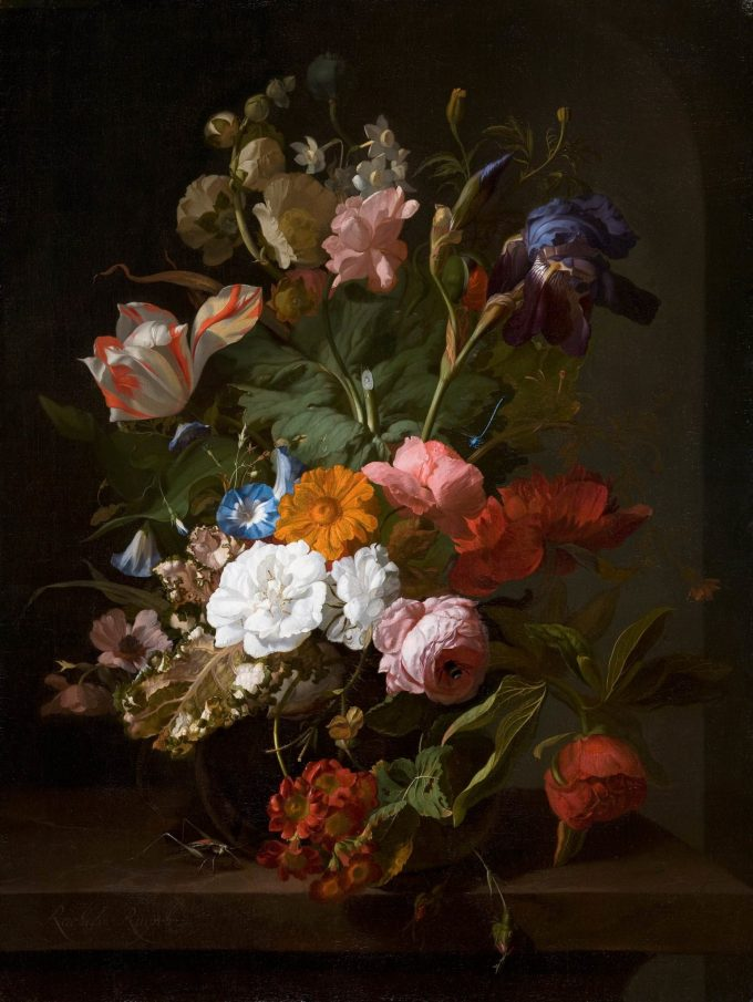Rachel Ruysch   Vase with Flowers   1700   Mauritshuis 151 scaled