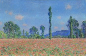 Claude Monet, Papaverveld in Giverny, 1891