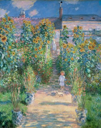 Claude Monet, de tuin van Monet in Vétheuil, 1880