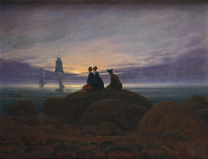 Caspar David Friedrich, Maanopkomst boven de zee, 1822
