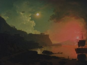 Joseph Wright of Derby, Vesuvius gezien vanaf Posillipo, 1774