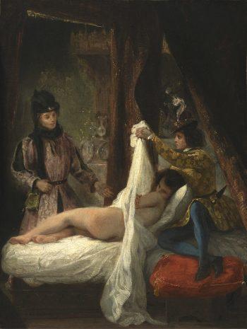 Eugène Delacroix, De hertog van Orléans toont zijn geliefde, 1825-1826