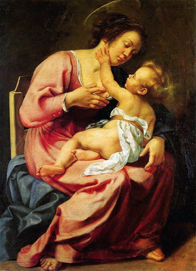 Artemisia Gentileschi, Madonna en kind, 1613