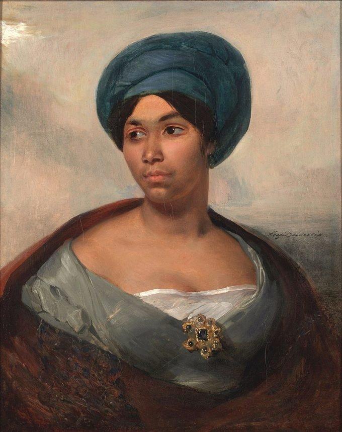 Eugène Delacroix, Vrouw met een blauwe tulband, 1827