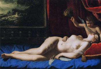 Artemisia Gentileschi, Venus en Cupido, 1626
