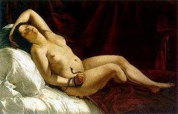 Artemisia Gentileschi, Dood van Cleopatra, 1613