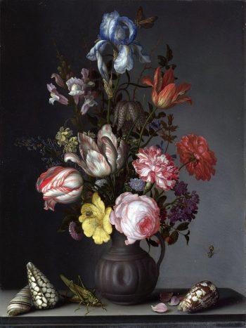 Balthasar van der Ast, Vaas met bloemen, schelpen en insecten, 1630