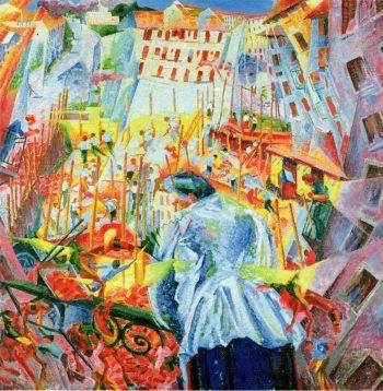 Umberto Boccioni, Lawaai, 1912