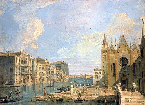 Canaletto, Canal Grande ter hoogte van San Maria della Carita, 1726