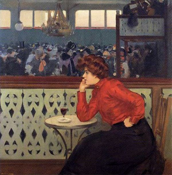Ramon Casas I Carbó, Madeleine in de Moulin Galette, 1902