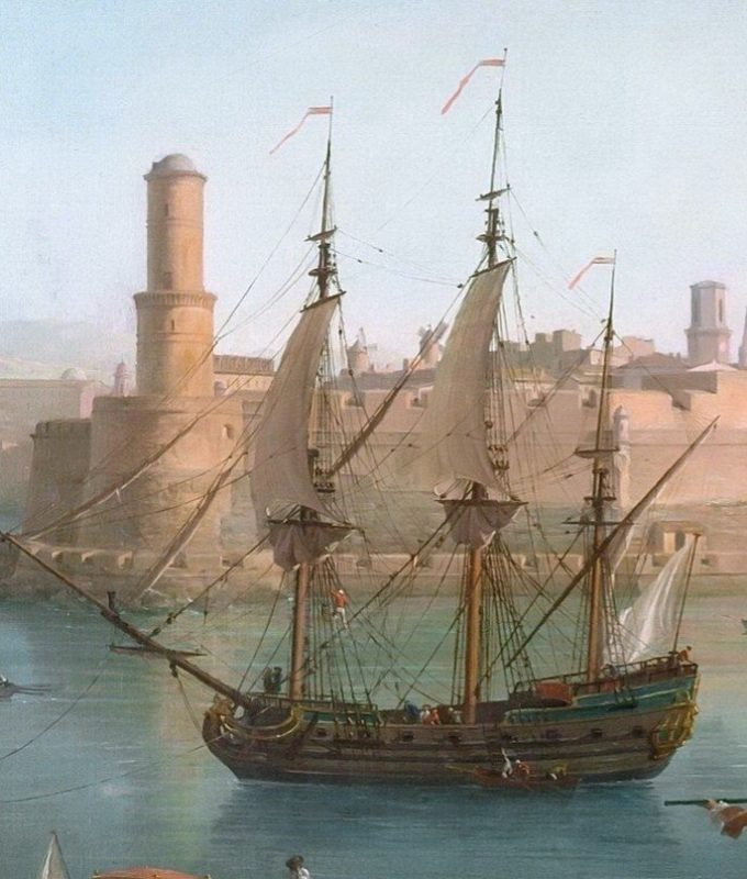 Claude-Joseph Vernet, L'entrée du port de Marseille, 1754