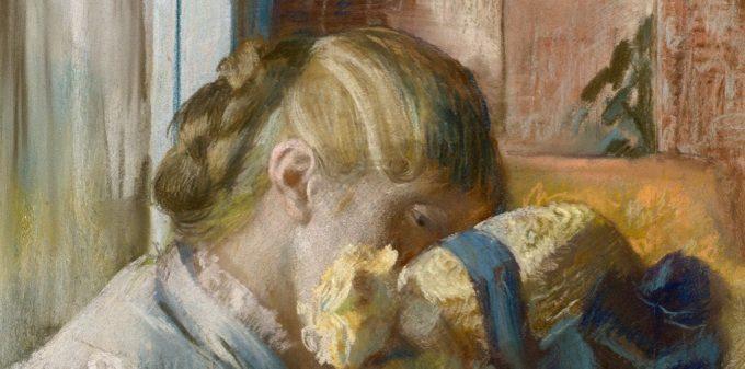 Edgar Degas, At the Milliner's, 1881