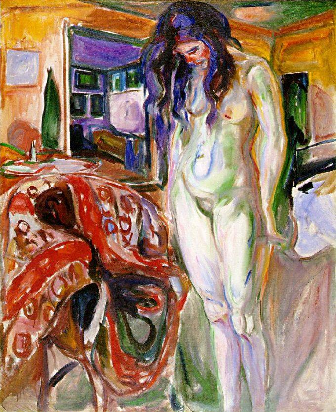 Edvard Munch, Model van de rieten stoel, 1919-1921