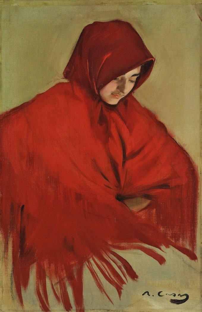 Ramon Casas i Carbó, Zigeunermeisje met rode sjaal, 1898