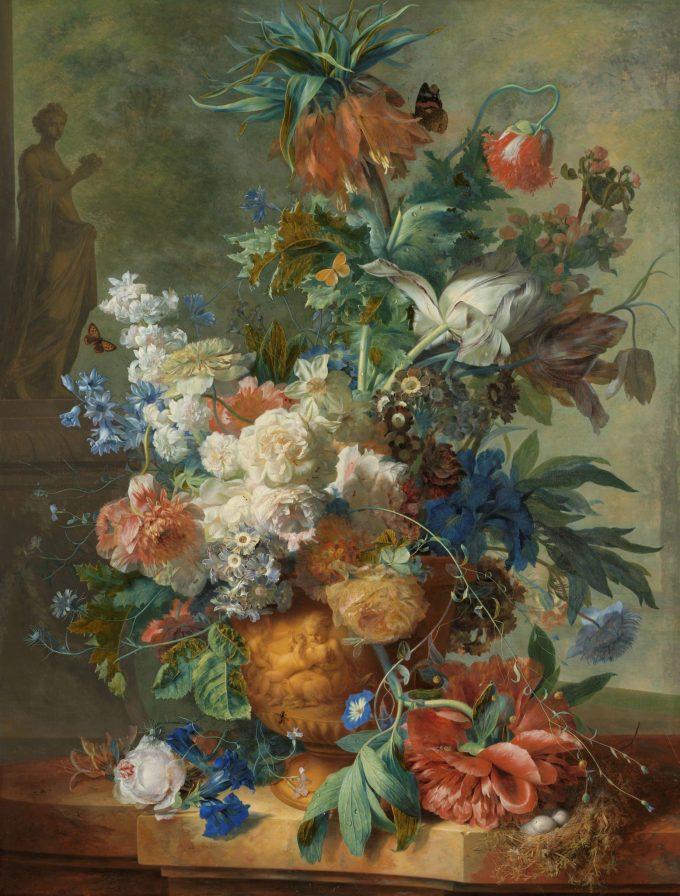 Jan van Huysum, Stilleven met bloemen, 1723