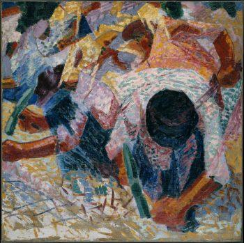 Umberto Boccioni, Straatstenen, 1914