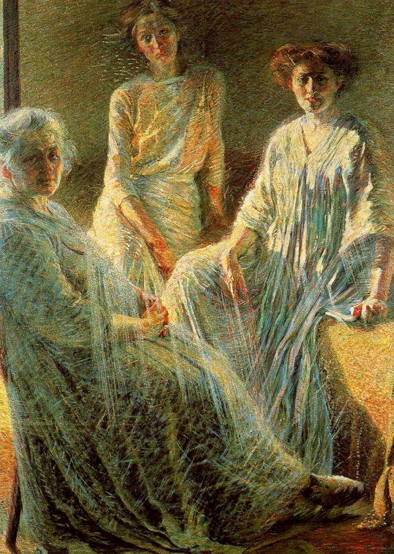 Umberto Boccioni, Drie vrouwen, 1909-1910