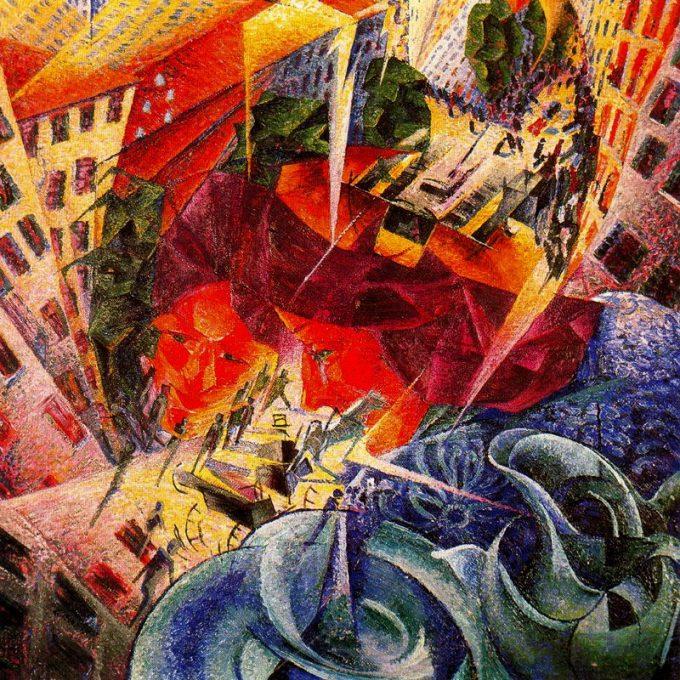"""Umberto Boccioni, Gelijktijdig kijken (""""visioenen""""), 1911"""
