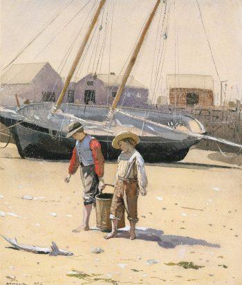 Winslow Homer, Een emmer vol kokkels, 1873