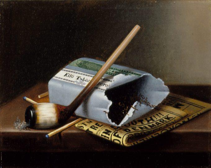 "William Michael Harnett, ""Alas, Poor, Yorick"", 1877"