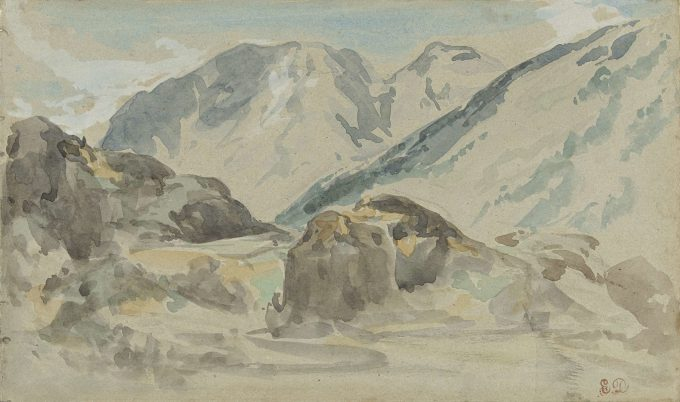 Eugène Delacroix, Berglandschap, 1840-1850