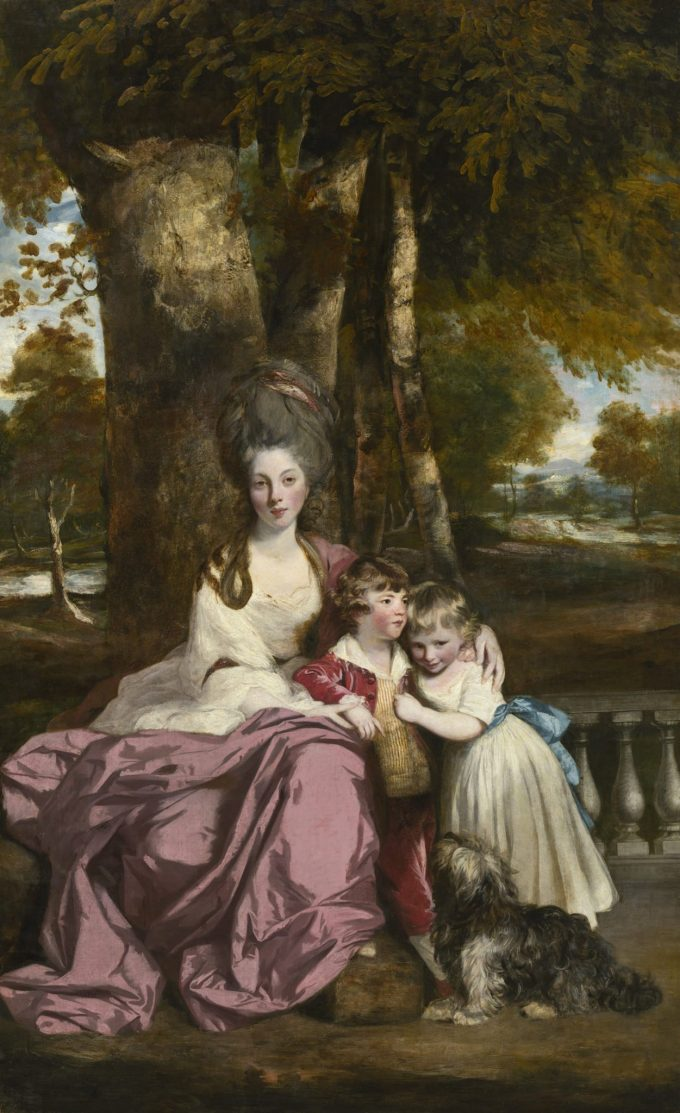 Sir Joshua Reynolds, Portret van Lady Elizabeth Delḿe en haar kinderen, 1779